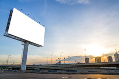 Large blank billboard with city view and background Stock Image