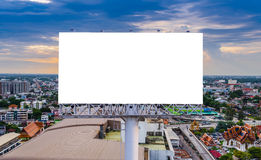 Large blank billboard with city view background Stock Images