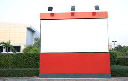 Large blank billboard outdoor Stock Photography