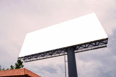 large Blank billboard ready for new advertisement Stock Photo