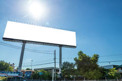 Large Blank billboard ready for new advertisement Royalty Free Stock Photography