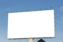 Large Blank billboard ready for new advertisement Royalty Free Stock Image