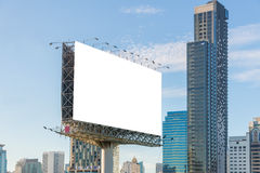 Large Blank billboard ready for new advertisement Royalty Free Stock Photos
