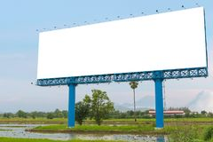 Large Blank billboard ready for new advertisement Stock Images