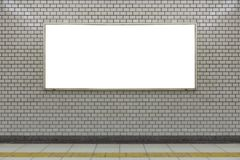 Large blank billboard on a street wall, banners with room to add. Your own text stock photography