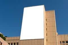 Large blank billboard on a street wall. Banners with room to add your own text royalty free stock image