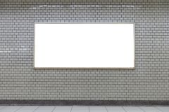 Large blank billboard on a street wall, banners with room to add. Your own text royalty free stock images