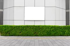 Large blank billboard on a street wall. Banners with room to add your own text royalty free stock photo