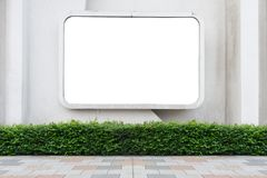 Large blank billboard on a street wall. Banners with room to add your own text stock images