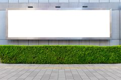 Large blank billboard on a street wall. Banners with room to add your own text stock photo