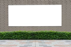 Large blank billboard on a street wall. Banners with room to add your own text royalty free stock photography