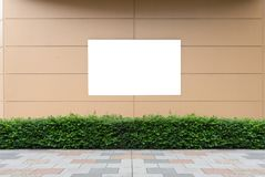 Large blank billboard on a street wall. Banners with room to add your own text royalty free stock photos
