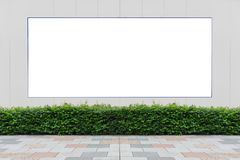 Large blank billboard on a street wall. Banners with room to add your own text stock photos