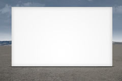 Large blank billboard Stock Photos