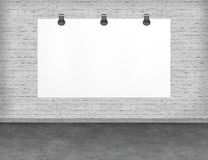 Large blank, empty, white billboard screen. Stock Photos