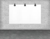 Large blank, empty, white billboard screen. Stock Photos