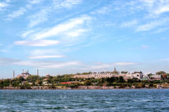 Large blank sky over Istanbul Royalty Free Stock Photos
