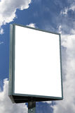 Large blank white billboard on cloudy sky Stock Photography