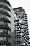 Large block of residential flats Royalty Free Stock Photos