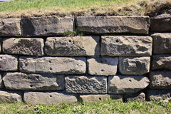 Large block retaining wall Stock Photos