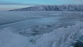 Large blocks of ice crack near Holy Nose Peninsula. stock footage