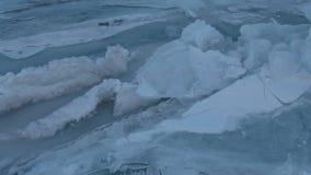 Large blocks of ice crack near Holy Nose Peninsula. stock video