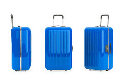 Large Blue Polycarbonate Suitcases Stock Image