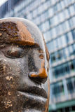 Large blue Purbeck head Bowman statue Royalty Free Stock Images