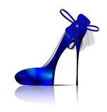 Large blue shoe Royalty Free Stock Photos