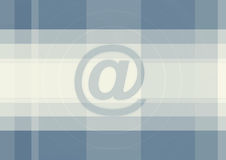 Large blue at sign background Royalty Free Stock Photos