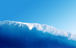Large Blue Surfing Wave Royalty Free Stock Image