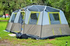 Large blue tent Stock Photography