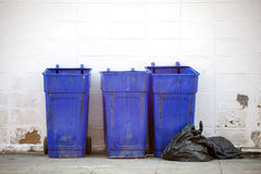 Large blue trash Royalty Free Stock Photography