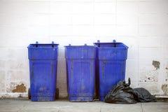 Large blue trash Royalty Free Stock Photography