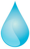 Large blue water drop (Vector Available). An illustrated rendition of a large, blue water drop Stock Photo