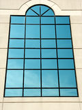 Large blue window royalty free stock photography