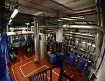 Large Boiler Room Royalty Free Stock Photo