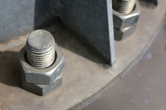 Large bolt and nut industry Royalty Free Stock Image
