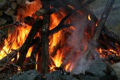 Bonfire at Dusk. Large bonfire at Dusk royalty free stock image