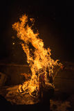 Large bonfire Royalty Free Stock Images
