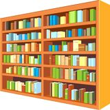 Large bookcase Stock Photo