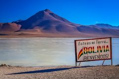 Large border board in Bolivia royalty free stock photos