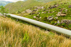 Large bore pipe for hydroelectric power station. Stock Photo