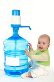 Large Bottle Of Clean Drinking Water. Royalty Free Stock Photos