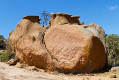 Large boulder at Enchanted Rock Stock Images
