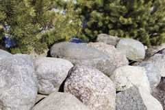 A large boulder in the sun,background Royalty Free Stock Image