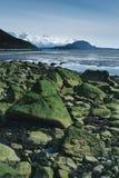 Large Boulders on Alaska Beach Royalty Free Stock Photo