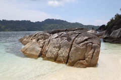 Large boulders on the beach Royalty Free Stock Photo