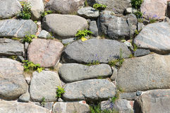 Large boulders wall background Royalty Free Stock Images