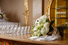 Large bouquet on the bar Stock Image